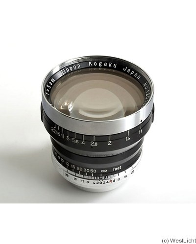 Nikon: 50mm (5cm) f1.1 Nikkor-N.C (M39) camera