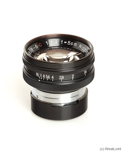 Nikon: 50mm (5cm) f1.4 Nikkor-S.C (BM, black) camera
