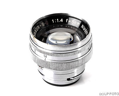 Nikon: 50mm (5cm) f1.4 Nikkor-S.C (BM, chrome) camera