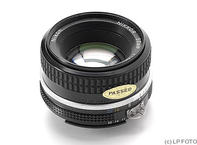 Nikon: 50mm (5cm) f1.8 Nikkor (AIS, 1985, 0.6m) camera