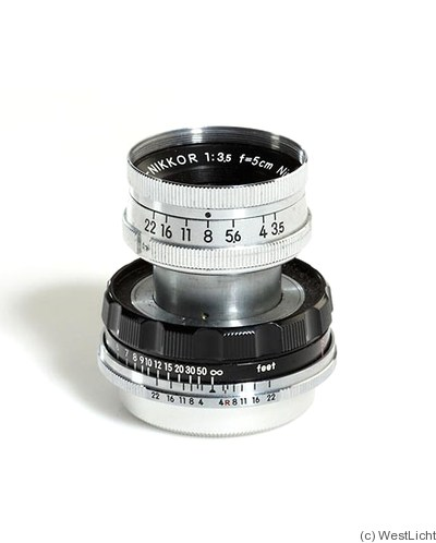 Nikon: 50mm (5cm) f3.5 Micro-Nikkor-C (black/chrome) camera