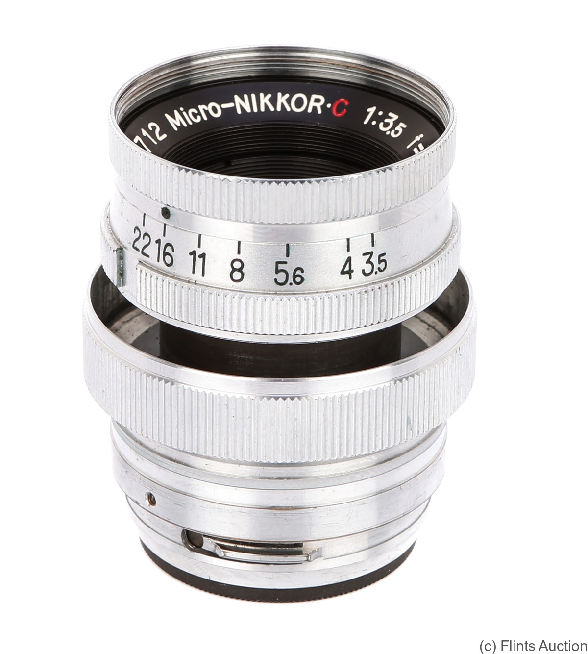 Nikon: 50mm (5cm) f3.5 Micro-Nikkor-C (chrome) camera