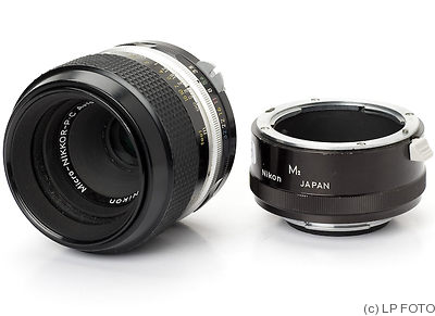 Nikon: 50mm (5cm) f3.5 Micro-Nikkor-P.C (black) camera