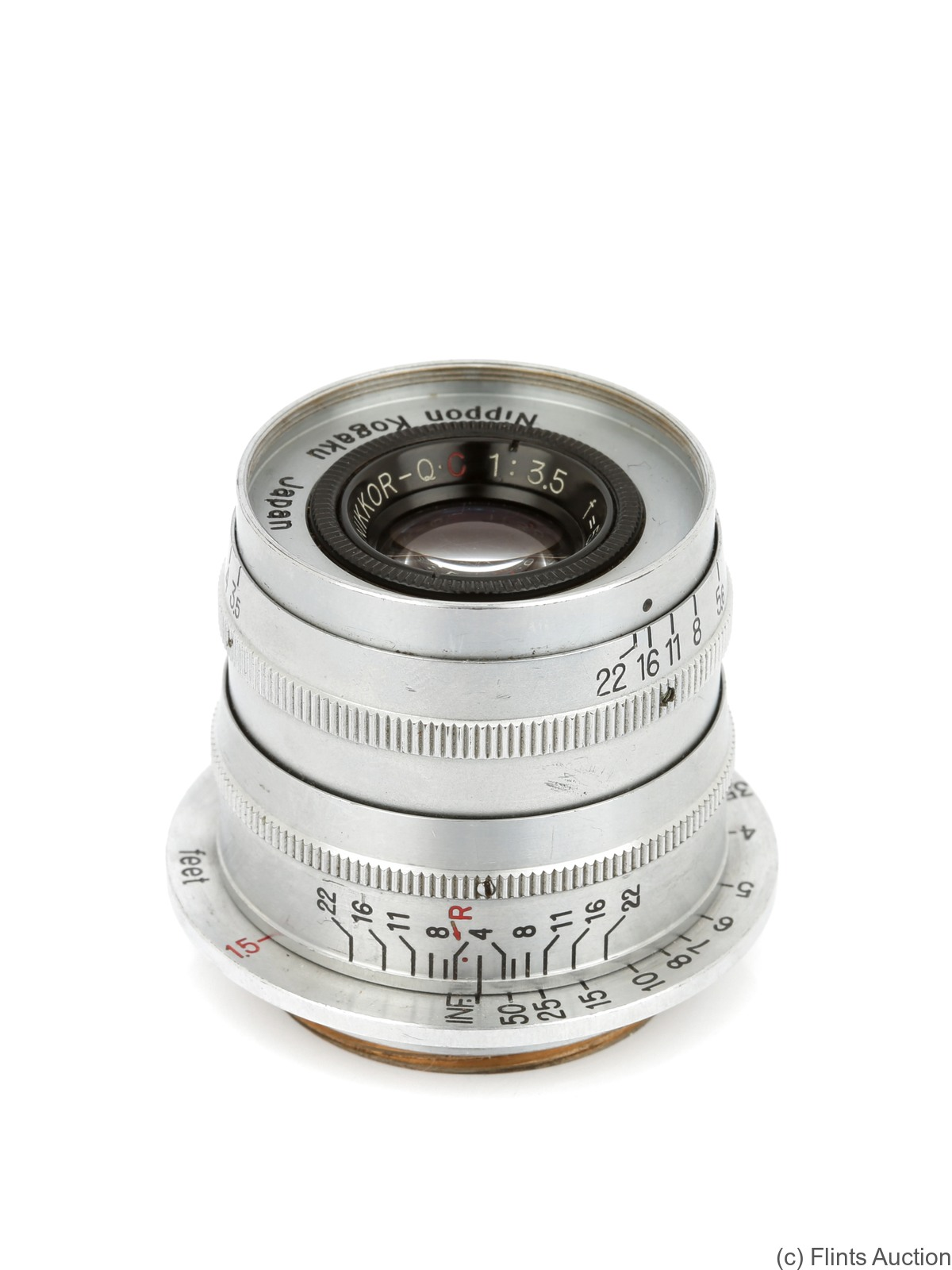 Nikon: 50mm (5cm) f3.5 Nikkor-Q.C (M39, rigid) camera