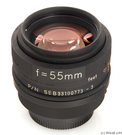 Nikon: 55mm (5.5cm) f1.2 Nikkor 'NASA' camera