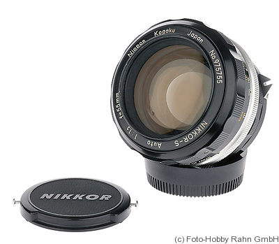 Nikon: 55mm (5.5cm) f1.2 Nikkor-S Auto camera