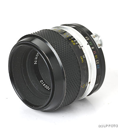 Nikon: 55mm (5.5cm) f3.5 Micro-Nikkor-P camera
