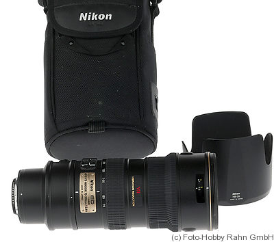Nikon: 70-200mm f2.8 Nikkor AFD (AF-S, VR, G, IF-ED) camera