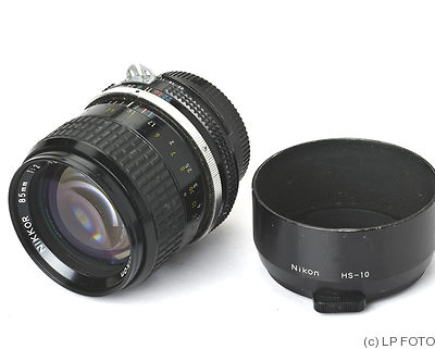 Nikon: 85mm (8.5cm) f2 Nikkor (AI) camera