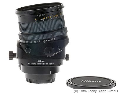Nikon: 85mm (8.5cm) f2.8 PC Micro Nikkor D camera