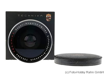 Schneider: 165mm (16.5cm) f8 Super-Angulon (Linhof) camera
