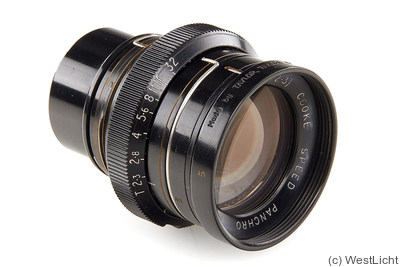 Taylor & Hobson: 50mm (5cm) f2 Cooke Speed Panchro camera