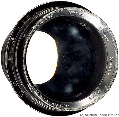 Taylor & Hobson: 9¼in f2.5 Cooke Anastigmat Series X camera