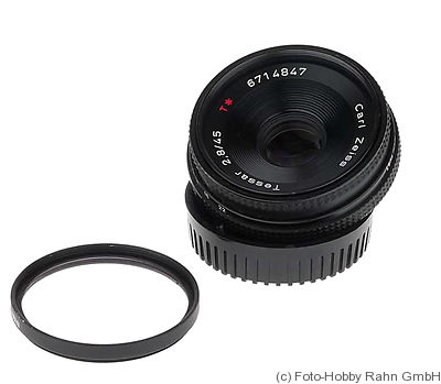 Zeiss, Carl: 45mm (4.5cm) f2.8 Tessar T* (Contax) camera