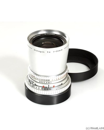 Zeiss, Carl: 50mm (5cm) f4 Distagon C T* (Hasselblad, chrome) camera