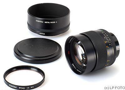 zeiss, carl: 85mm (8.5cm) f1.4 planar mm t* (contax) lens