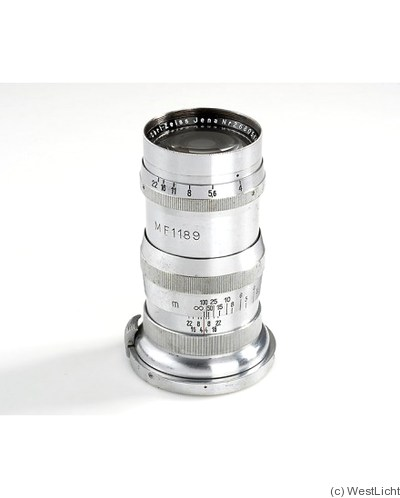 Zeiss, Carl Jena: 135mm (13.5cm) f4 Sonnar 'Royal Navy' (Contax, chrome) camera