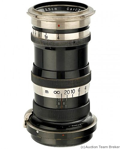Zeiss, Carl Jena: 135mm (13.5cm) f4 Sonnar (Contax, black/nickel) camera