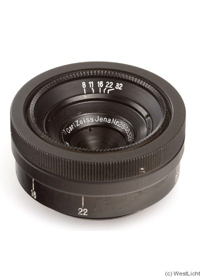 Zeiss, Carl Jena: 28mm (2.8cm) f8 Tessar (M39, black) camera