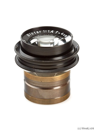 Zeiss, Carl Jena: 40mm (4cm) f1.4 Biotar (black) camera