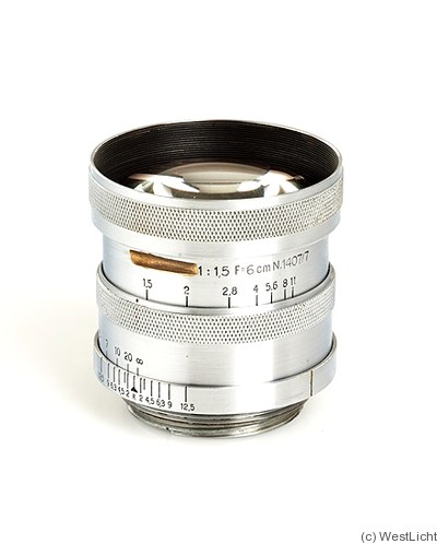 Zeiss, Carl Jena: 60mm (6cm) f1.5 Sonnar (M39) camera