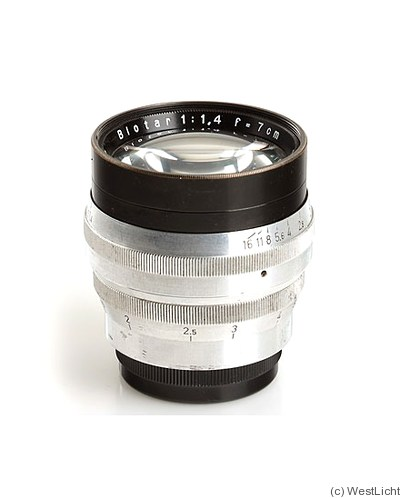 Zeiss, Carl Jena: 70mm (7cm) f1.4 Biotar (M42) camera