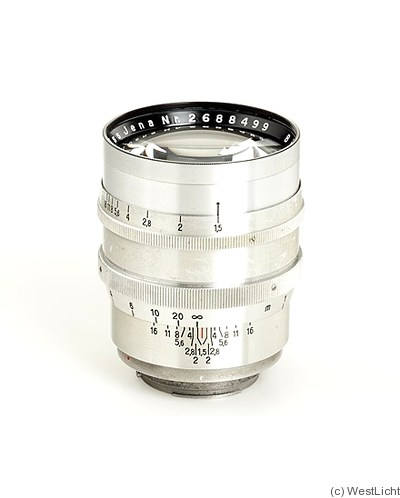 Zeiss, Carl Jena: 75mm (7.5cm) f1.5 Biotar (Kine-Exakta, chrome, early) camera